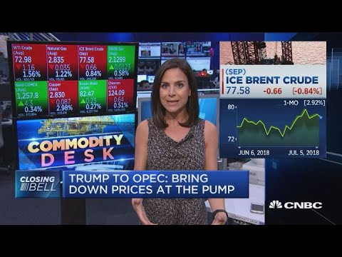 Trump to OPEC: Bring down prices at the pump