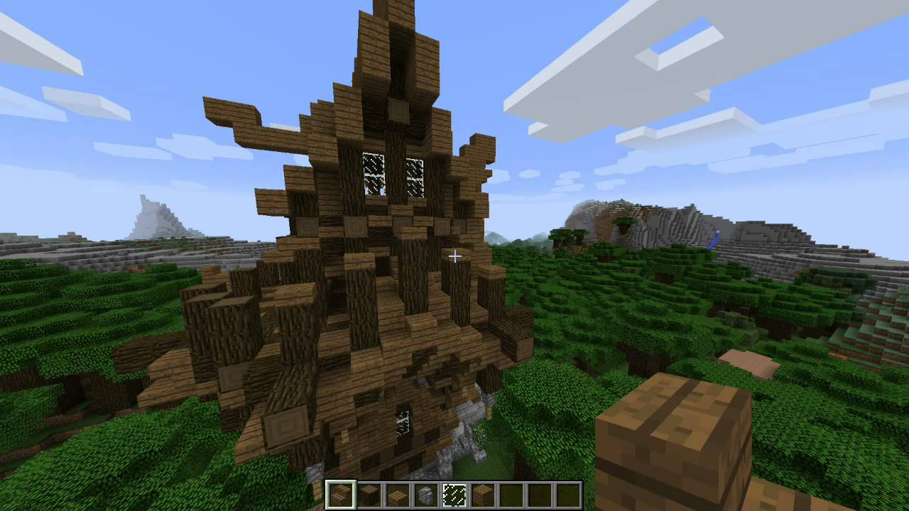 Minecraft Roofed Forest House