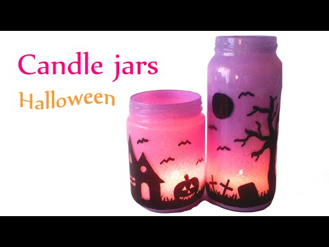 DIY crafts (Halloween decorations) CANDLE JARS, Lanterns- Innova Crafts