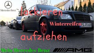 Mercedes-Benz W202 | Winterreifen lackieren und aufziehen | Ichbinsjetzt Tuning