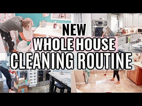 WHOLE HOUSE CLEANING ROUTINE-ENTIRE HOUSE CLEANING MOTIVATION-CLEAN WITH ME 2019- CLEANING MUSIC