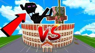 ⚠ ENDERMAN TITAN VS ZOMBIE PIGMAN TITAN ⚔💥 ¡ME MATAN EN CREATIVO! | MINECRAFT ARENA COLISEO GIGANTE
