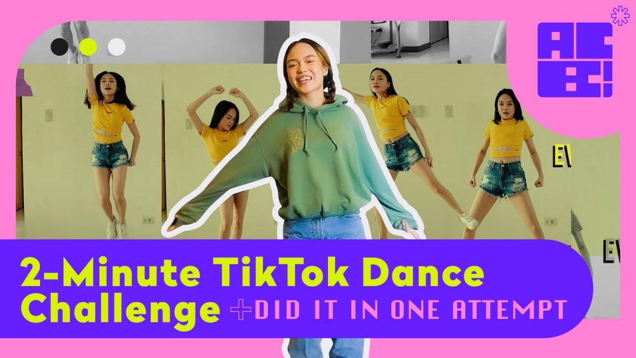 2 Minute Tiktok Dance Challenge (DID IT IN ONE ATTEMPT!) // AC Bonifacio
