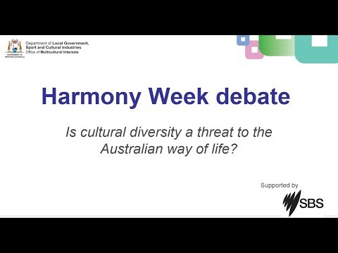 Harmony Week 2018 Debate: 'Is cultural diversity a threat to the Australian way of life?