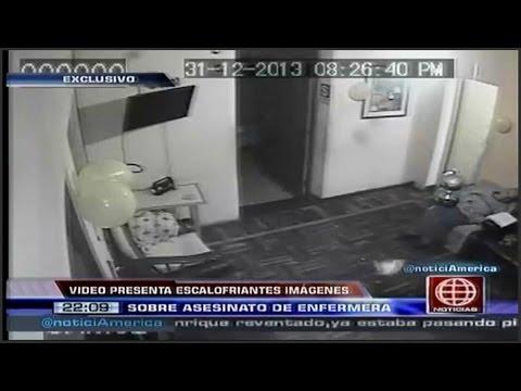 Camara de seguridad registro agresion a enfermera antes de ser asesinada