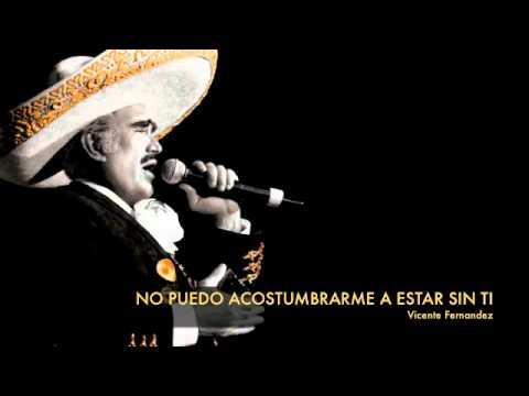 Vicente Fernandez - No Puedo Acostumbrarme A Estar Sin Ti
