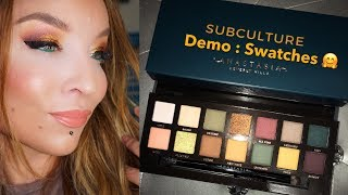 Anastasia Beverly Hills Subculture Palette : Demo : Swatches