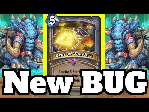 GAME BREAKING BUG! Giving The Opponent 40 Deck Of Wonders! | Hearthstone