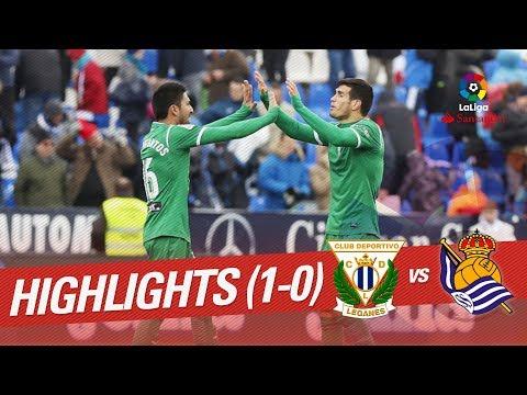 Resumen de CD Leganés vs Real Sociedad (1-0)