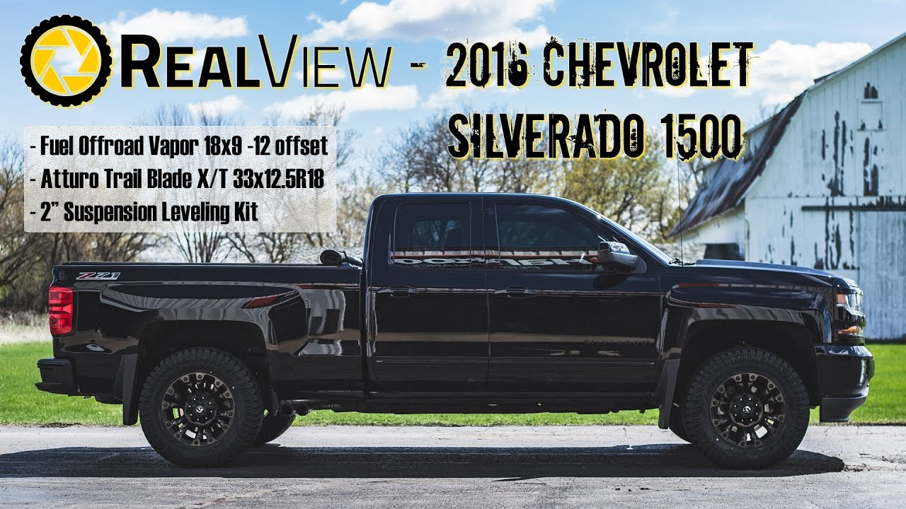 "RealView - Leveled 2016 Chevy Silverado 1500 w/ 18"" Fuel ..."