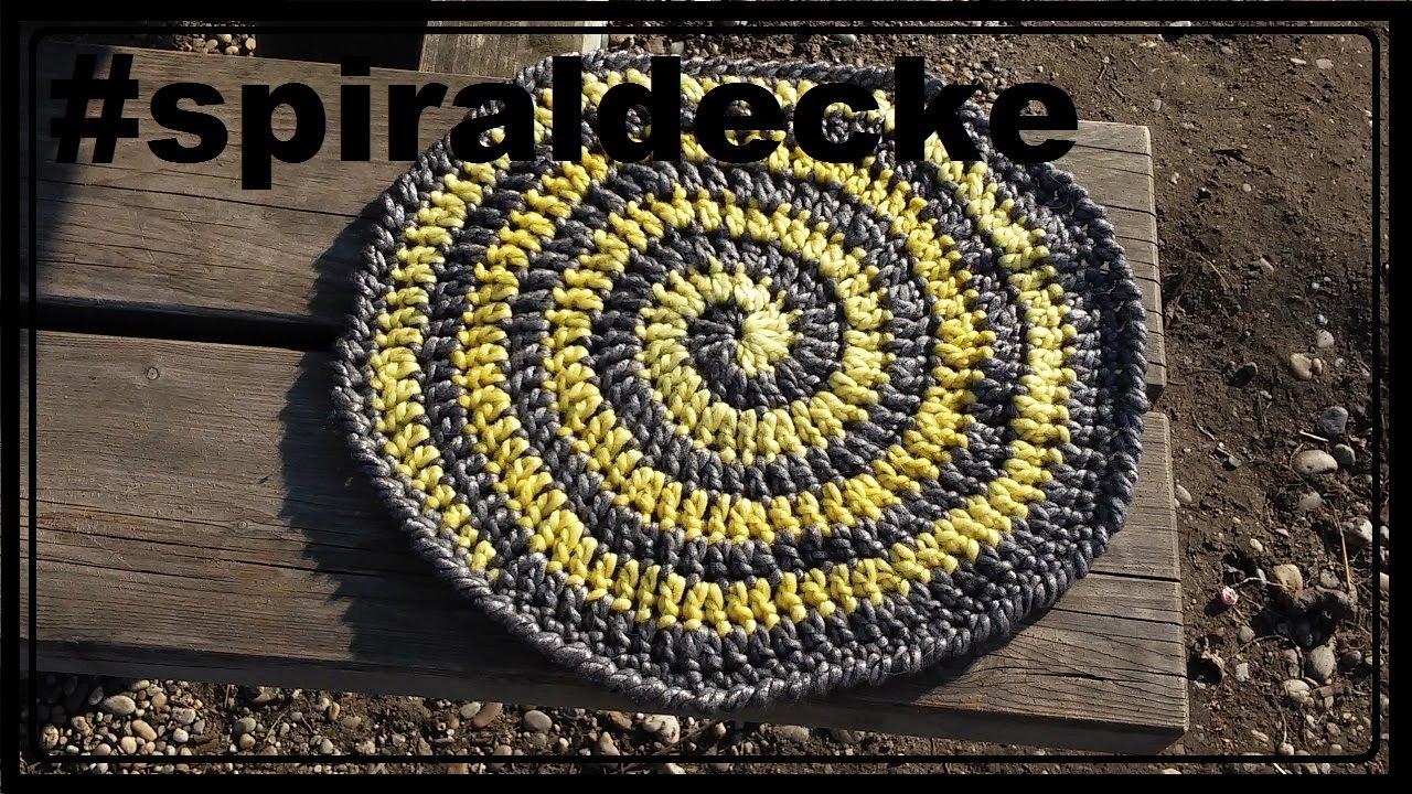 Spiraldecke häkeln, Decke, Babydecke - YouTube