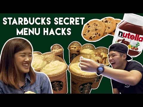 SINGAPORE STARBUCKS SECRET MENU TASTE TEST! | TSL Vlogs