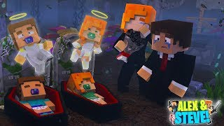 BABY ALEX & BABY STEVE ARE DEAD!! Minecraft LIFE of ALEX & STEVE