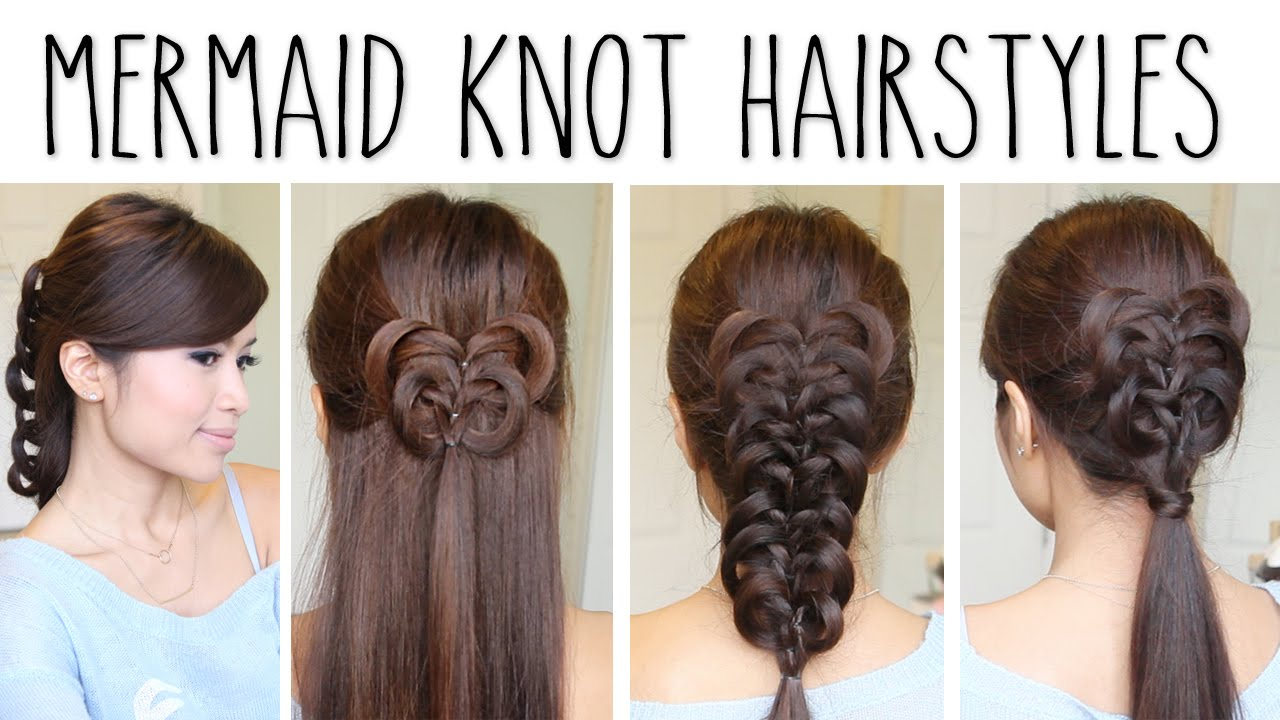 Easy Knotted Braid Hairstyles Hair Tutorial Youtube