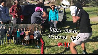 Guns Down, Gloves Up🥊‼️Public Boxing