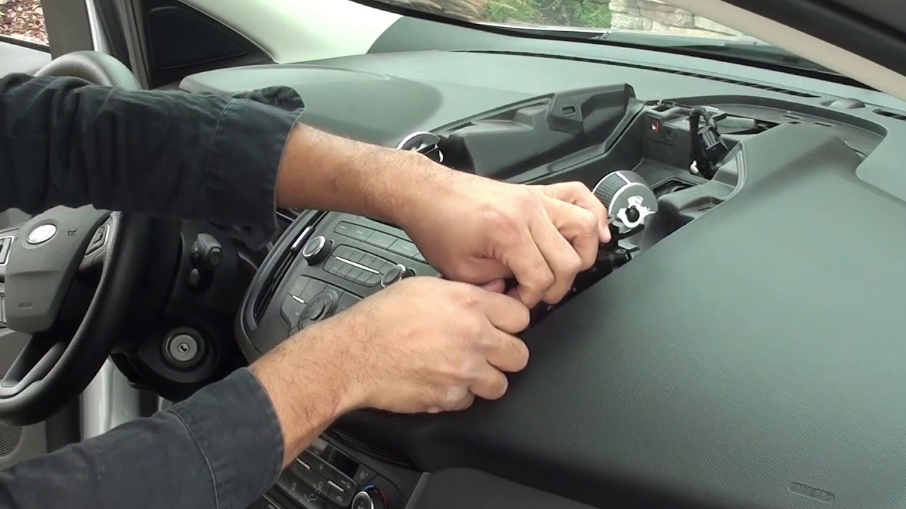 Remove Factory Stereo Ford Escape 2013 To 2018 Youtube