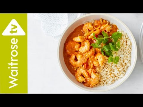 Coconut King Prawns With Cauliflower Rice | Waitrose