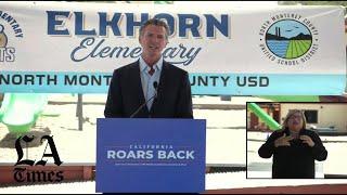 Gavin Newsom's $2.7 billion plan for free kindergarten for all California 4-year-olds