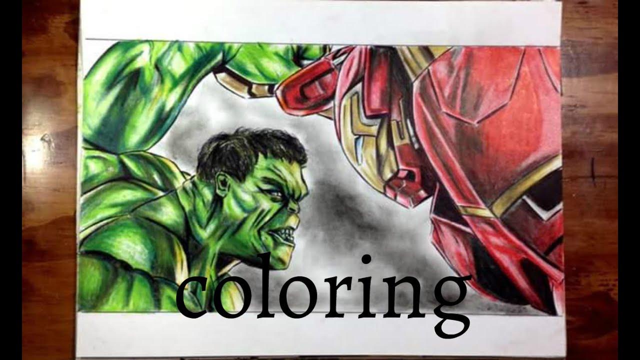 Como Colorear A Hulk Vs Hulkbuster How To Draw Hulkbuster Vs Hulk