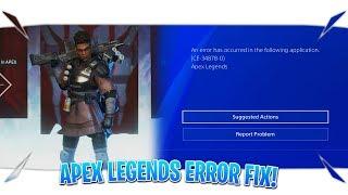 """Apex Legends Error Fix """"How To Fix Apex Legends Error"""" (Apex Legends CE-34878-0 Error Fix)"""