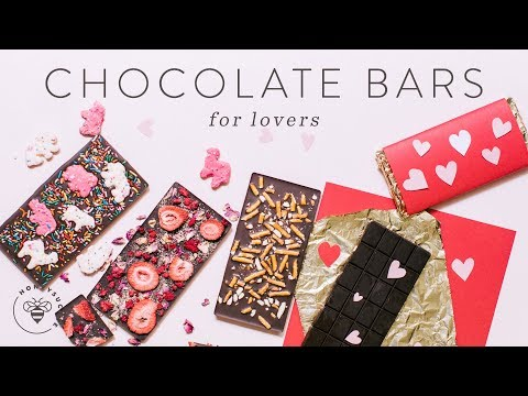 3 DIY CHOCOLATE BARS + Packaging for Valentine's Day 🍫🍫🍫💖😍