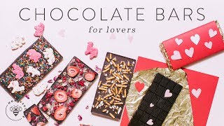 3 DIY CHOCOLATE BARS + Packaging for Valentine's Day