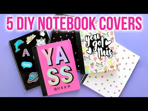 5 EASY DIY Notebook Covers - Back to School 2018 - HGTV Handmade