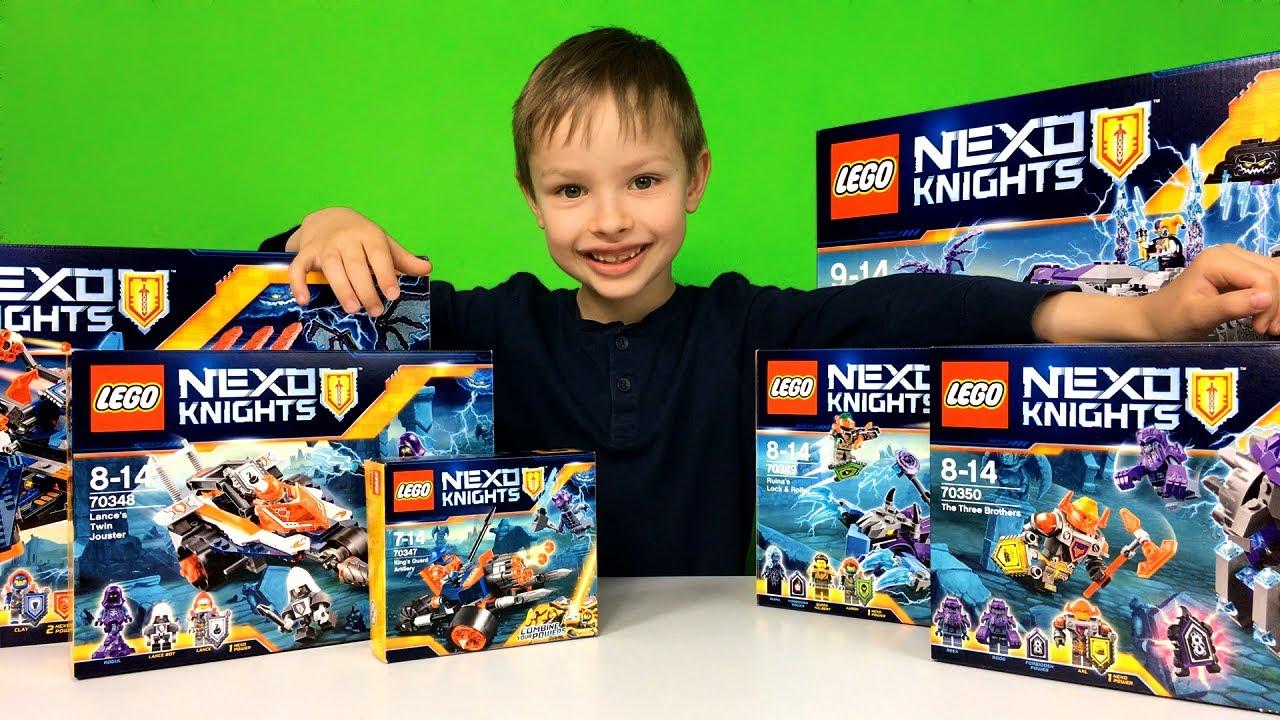 Kolekcja Lego Nexo Knights 2017 Wszystkie Zestawy Z Katalogu