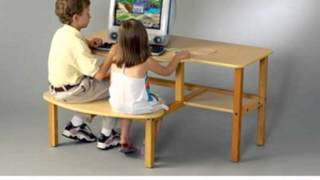 Childs Wooden Computer Desk For 1