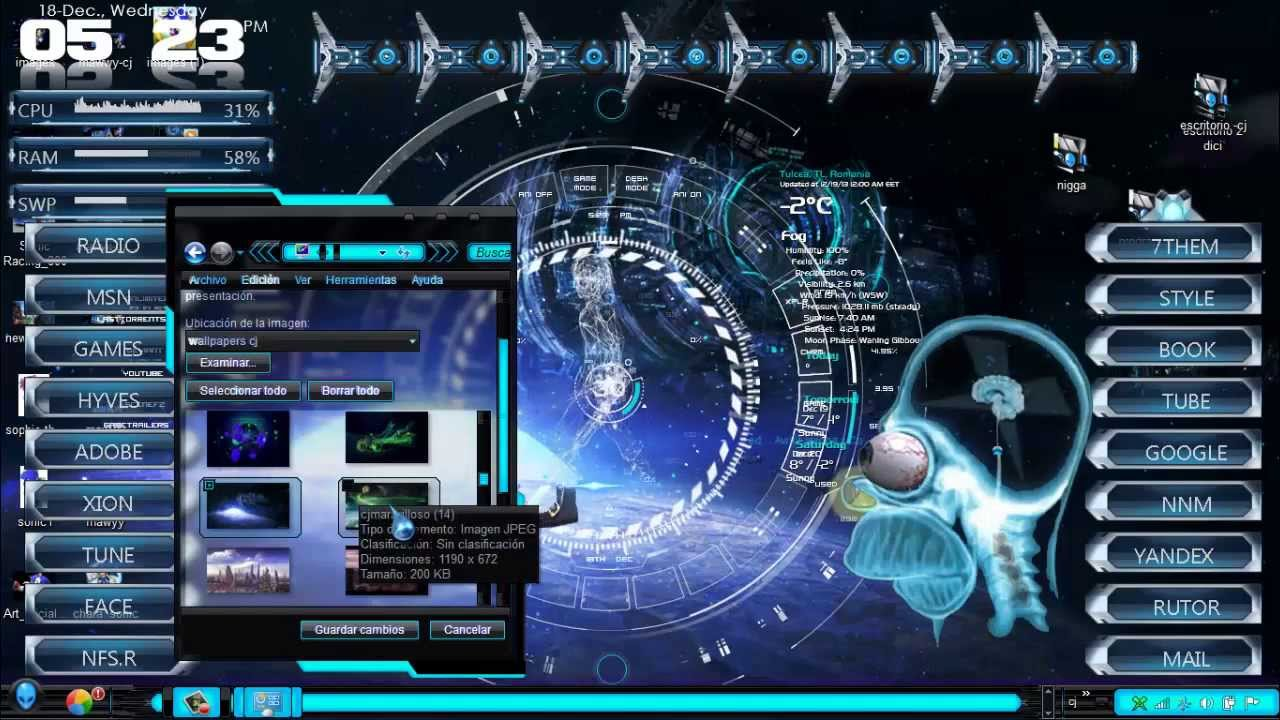 Descarga Pack De Wallpapers Futuristas En Hd Para Windows 7 Youtube