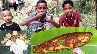 Vegetable Fish Curry Cooking For Village orphans kids | fish curry recipe for village orphans