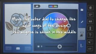 BERNINA 880: het maken van borduurwerk patroon variaties met de Kleur Wiel