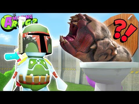 FLUSHING THE GIANT SPACE WORM DOWN THE TOILET!! CAN WE DO IT?! ||Amazing Frog Funny Gameplay Part 60