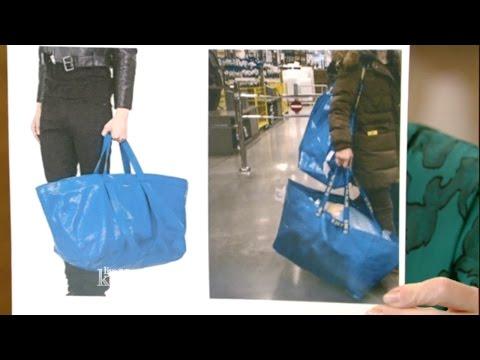 Balenciaga's $2145 Bag Looks Just Like Ikea's 99¢ Tote Bag