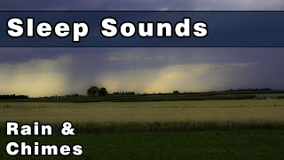 Soothing RAIN & WIND CHIMES Sleep Sounds - 12 Hours - Sleep Music - Gently Relax & Unwind