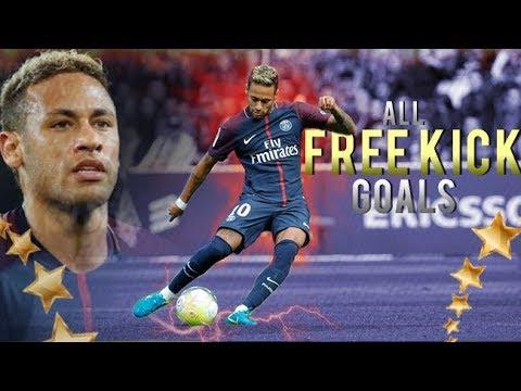 Neymar Jr - ALL 17 FREE KICK Goals In Career | 2011 - 2017 | HD