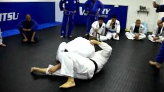 Brazilian Jiu Jitsu Reversal against Knee Ride Pass – with Armbar finish