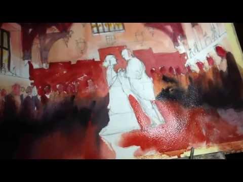 Live Wedding Artist - Event Painter - London, UK, France, Spain, Italy