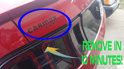 How To Remove Sticker/Decals (CARMAX Sticker) in Minutes!