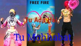 Tu Ada Hai Tu Mohabbat!! Free Fire Snack Video (part 2)!! FreeFire On Snack video!!
