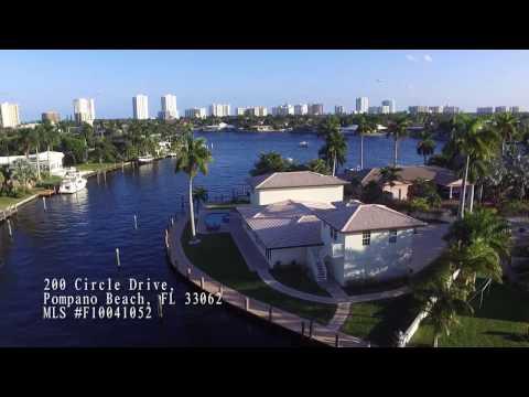 200 Circle Drive, Pompano Beach, Florida Video