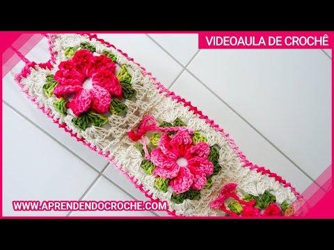 Jogo Banheiro Crochê Floral - Porta Papel Higiênico - Aprendendo ...