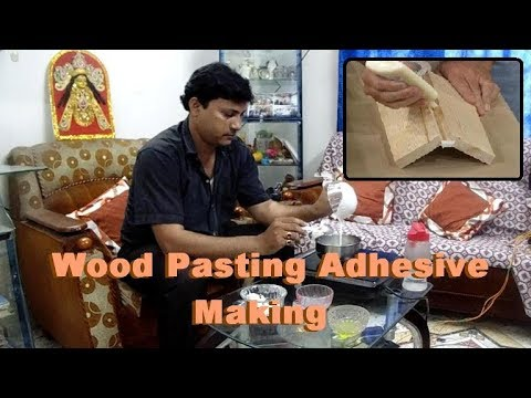Wood pasting adhesive making process.Wood pasting adhesive. Wood working basics glue.