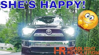 2018 4Runner Limited is fixed! HID vs LED Headlight Low Beams