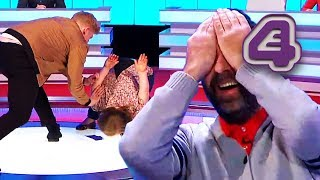 Rob Beckett Is Mortified When He Accidentally Pushes Over Ellie Simmonds! | 8 Out Of 10 Cats