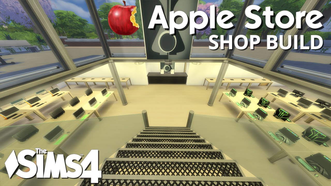 the sims 4 shop build apple store youtube. Black Bedroom Furniture Sets. Home Design Ideas
