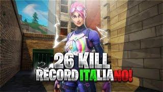 26 KILLS SOLO VS SQUAD RECORD ITALIANO - FORTNITE ITALIA [PC] [ RECORD SUPERATO]