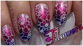Romantisches Blumen Stamping Nageldesign einfach selber machen / Valentinstag