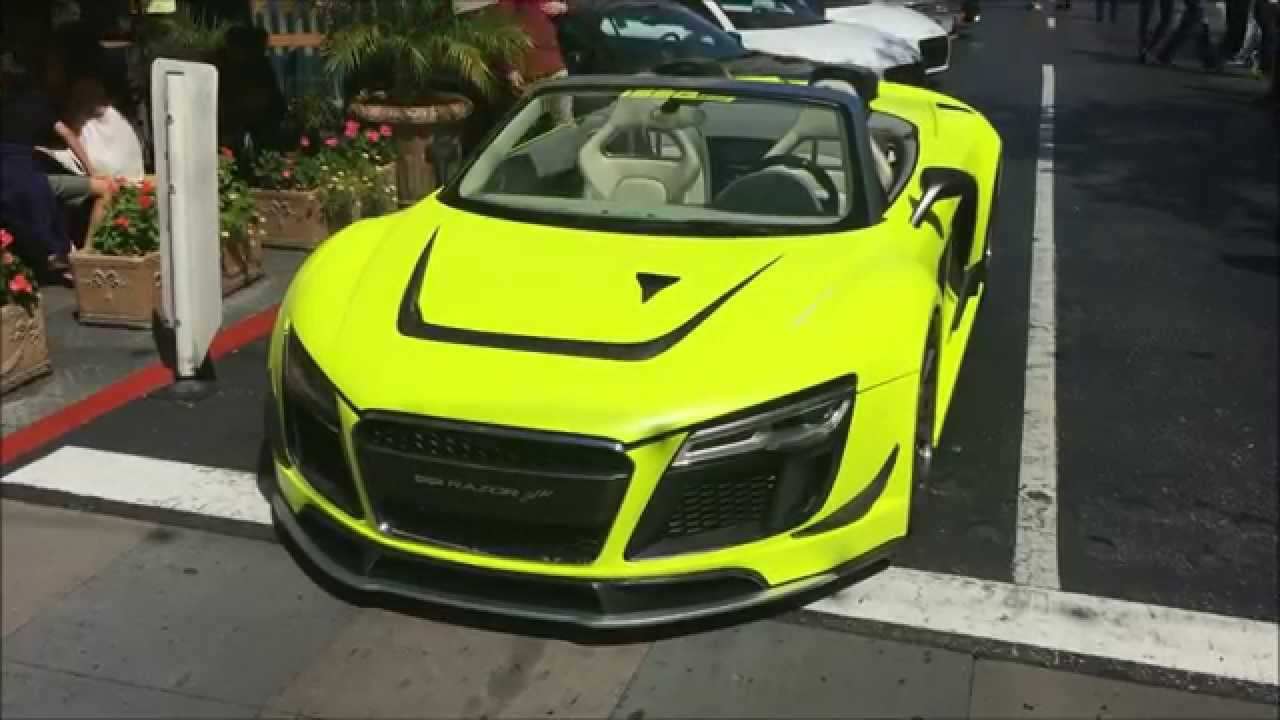 Lime Green Audi R8 Razor Gtr Spyder Youtube