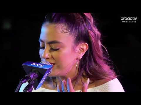 Ally Brooke performing Perfect on Proactiv x AXS Patio Sessions